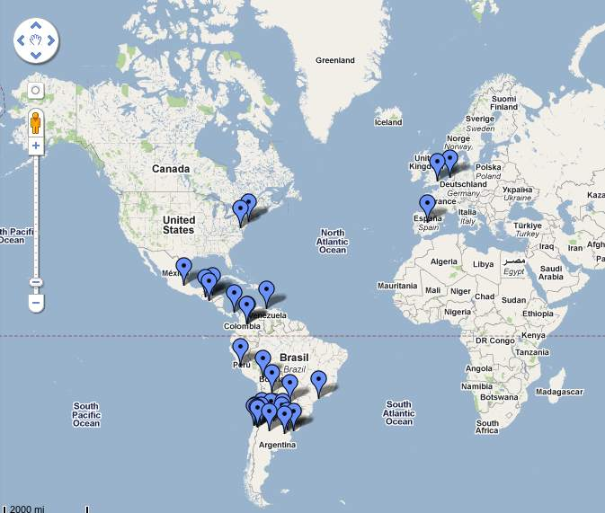 Mapa de los Actores de la RSE a nivel Iberoamérica e Internacional