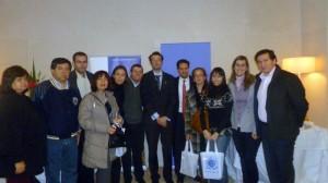 El grupo de estudios que viajó a Santiago de Chile, al finalizar el Seminario de los Principios del Pacto Global