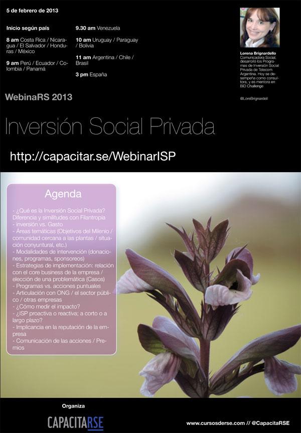 Webinar de Inversión Social Privada, 5 de Febrero