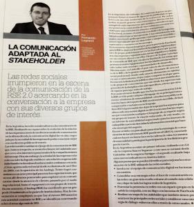 Columna de Fernando en Quien es Quien en RSE de El Cronista 27-03-2014