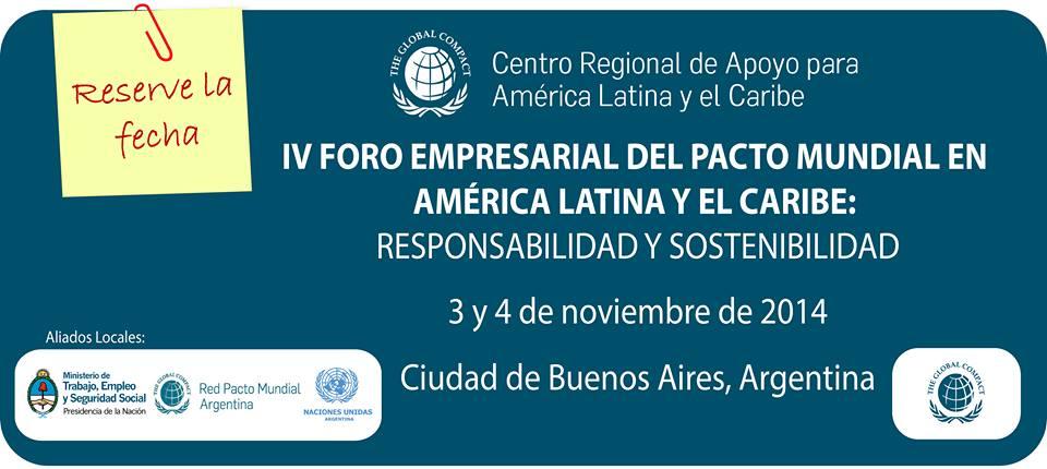 Aplica tu caso al IV Foro Empresarial del Pacto Global