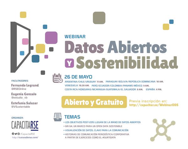 Webinar sobre Open Data y Sostenibilidad, te esperamos!