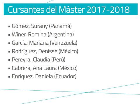 Cursantes MasterSost 2018