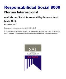 Norma SA8000 en español