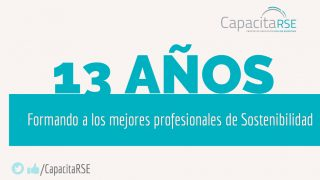 13 años formando a los mejores Profesionales en Sostenibilidad