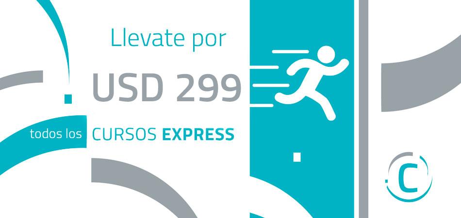 Todos los Cursos Express por USD 299
