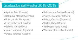 Graduados 2019 en Chile