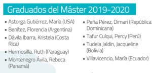 Graduados de la 4ª edición del Master de Sostenibilidad