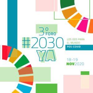 Participa del 3º Foro Online #2030YA