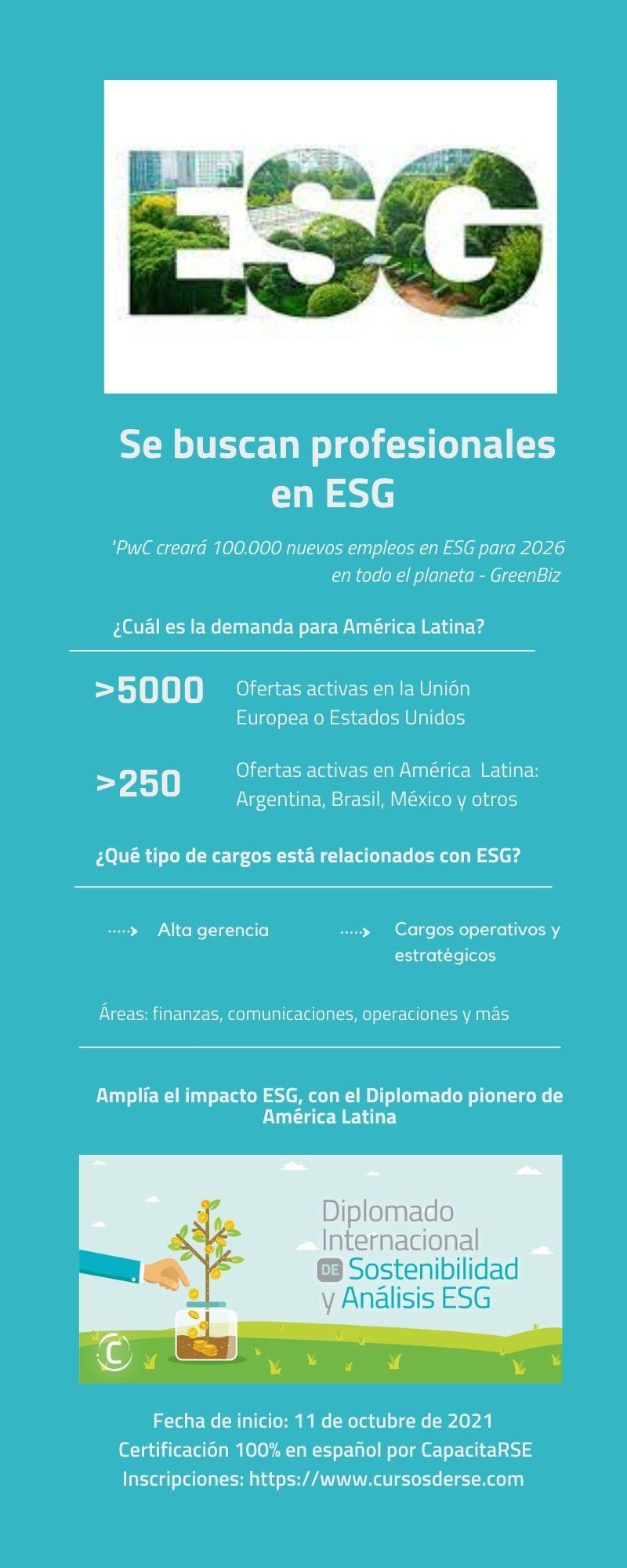 Cuáles son las oportunidades de empleo ESG en América Latina